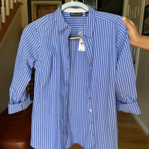NYC & Company 7th Avenue Blue Striped Dress Shirt